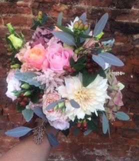 autumn wedding bouquet in pastel