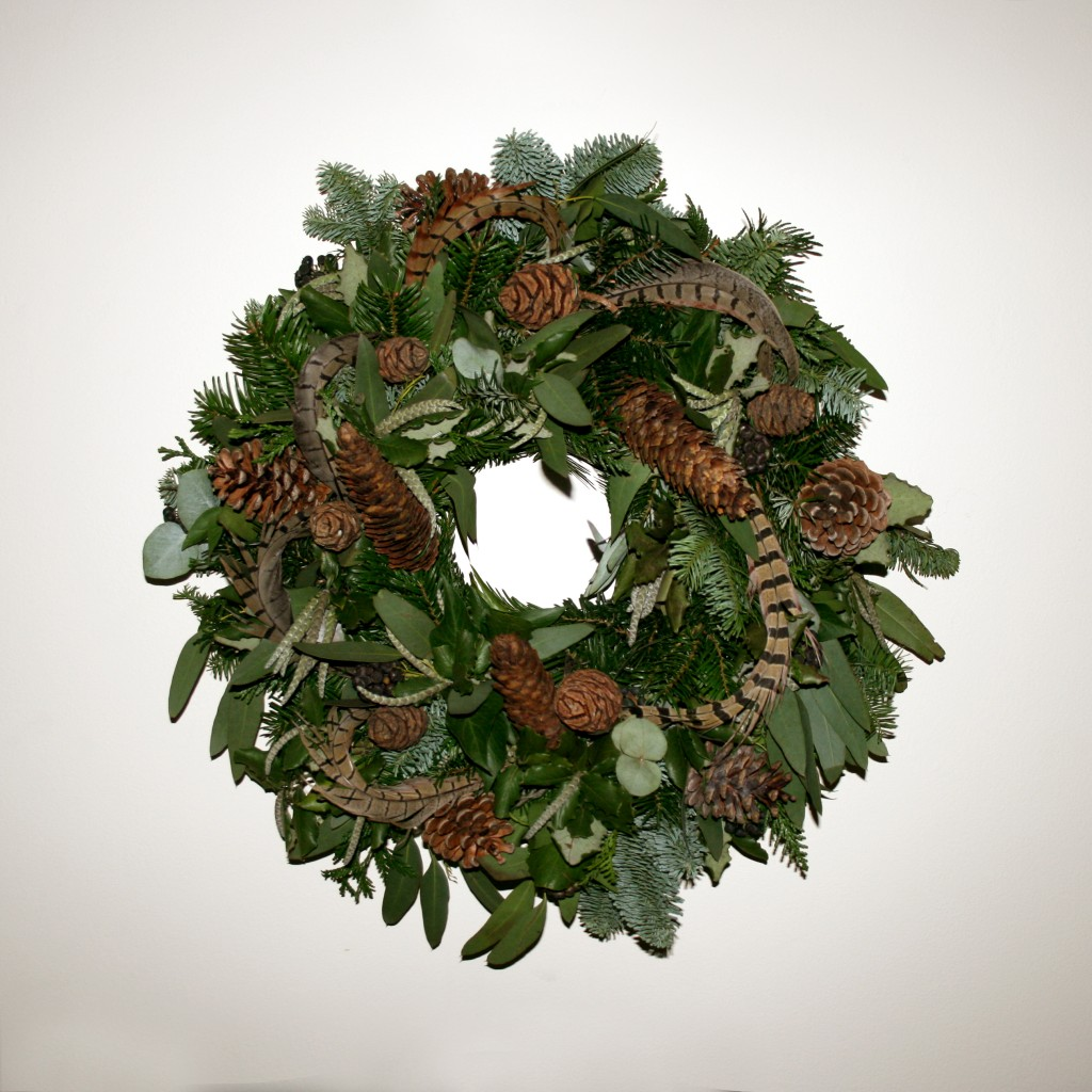 Christmas Wreath With Pheasant Feathers Rose Amp Mary