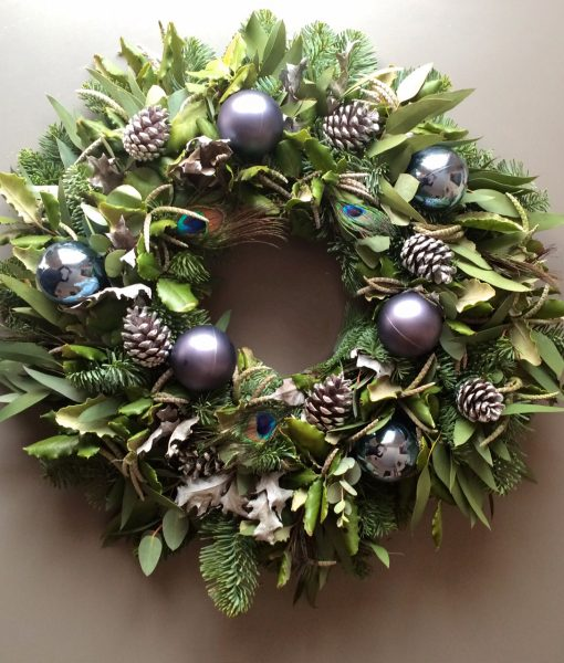 Christmas Wreaths.Christmas Wreath With Pheasant Feathers